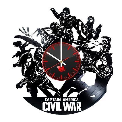 Amazon Com Captain America Civil War Vinyl Clock Captain America