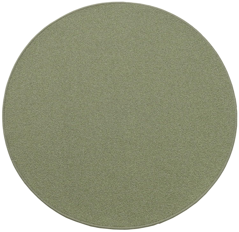 円形ラグ 撥水 滑り止め付 径180cm オリーブグリーン B06XQZVB1S 径180cm,09.オリーブグリーン