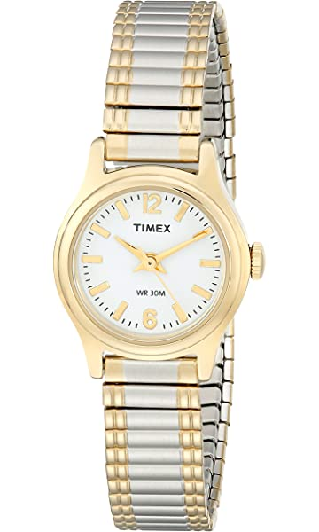 Timex Womens Easy Reader Two Tone Expansion Band Watch