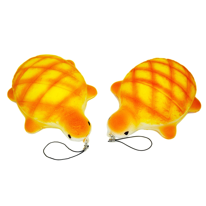 Pack of 2 Popculta Jumbo Turtle Squishy Charm Toy Extra Soft