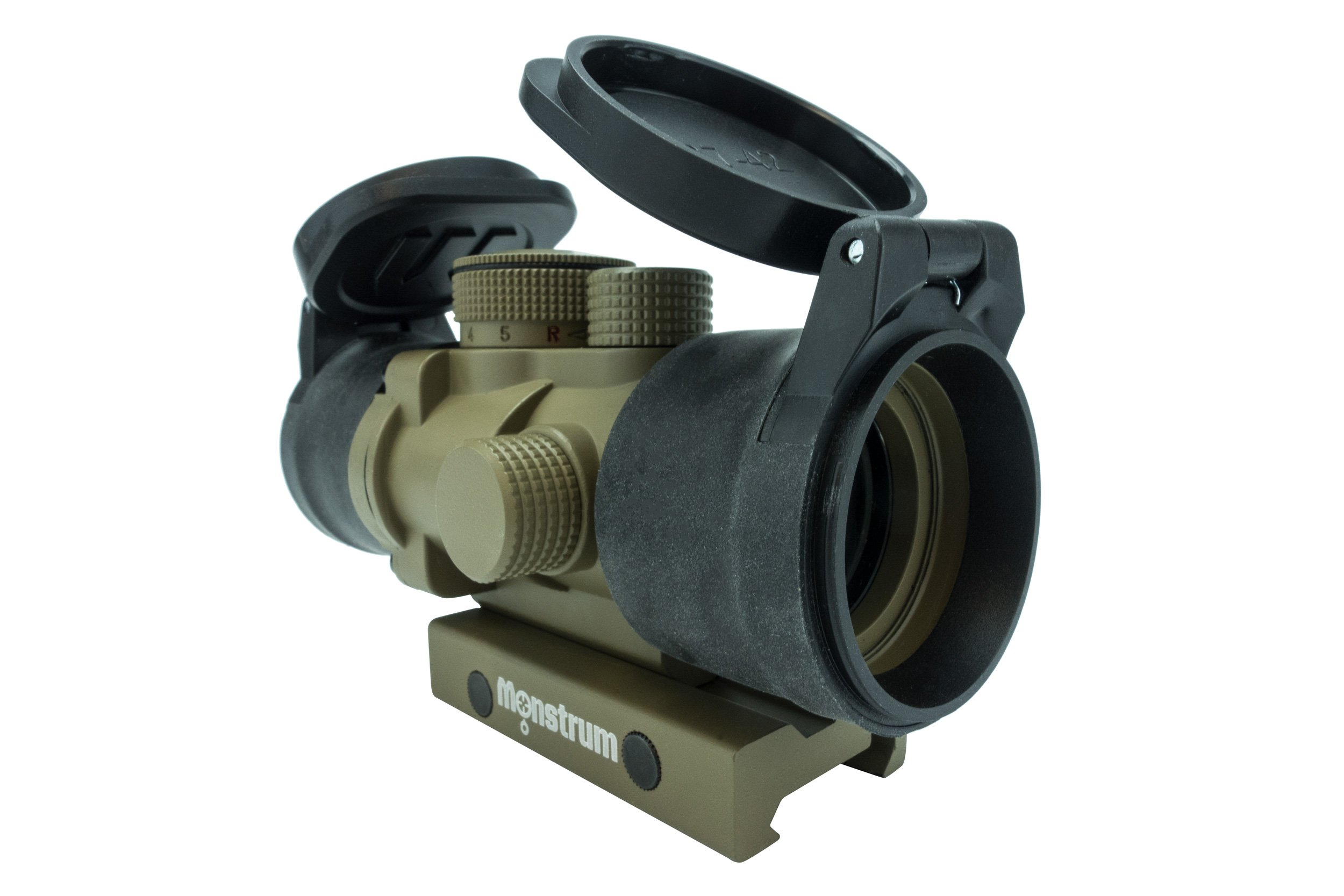 Monstrum Tactical S330P Ultra-Compact 3x Prism Scope (Flat Dark Earth with Flip-Up Lens Covers) by Monstrum Tactical