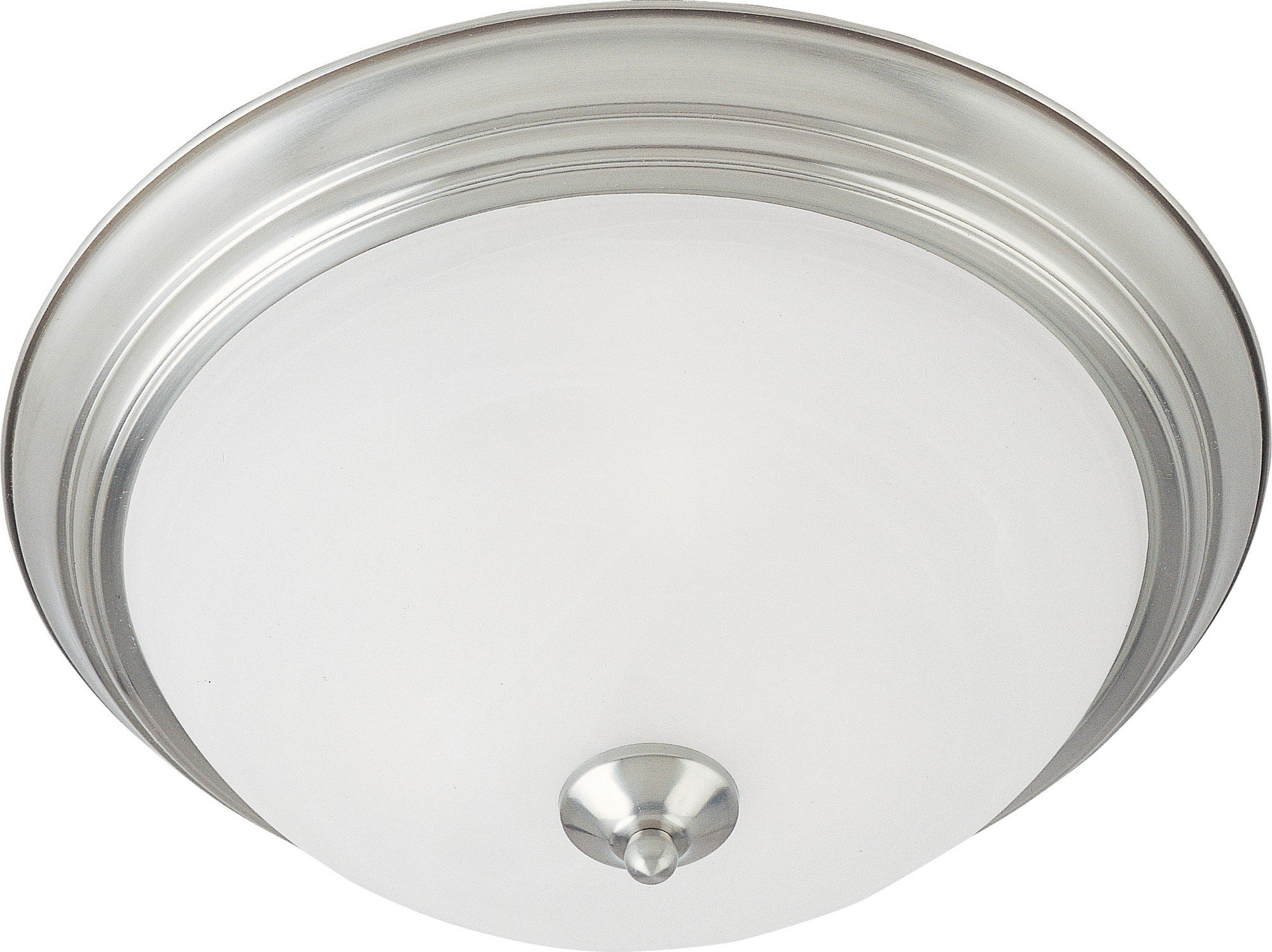 Maxim 5841MRSN Essentials 2-Light Flush Mount, Satin Nickel Finish, Marble Glass, MB Incandescent Incandescent Bulb , 60W Max., Dry Safety Rating, Standard Dimmable, Glass Shade Material, Rated Lumens