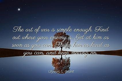 Amazon.com Ulysses S. Grant , Famous Quotes Laminated