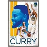 Trends International NBA Golden State Warriors - Stephen Curry 19 Wall Poster, 14.725' x 22.375', Barnwood Framed…