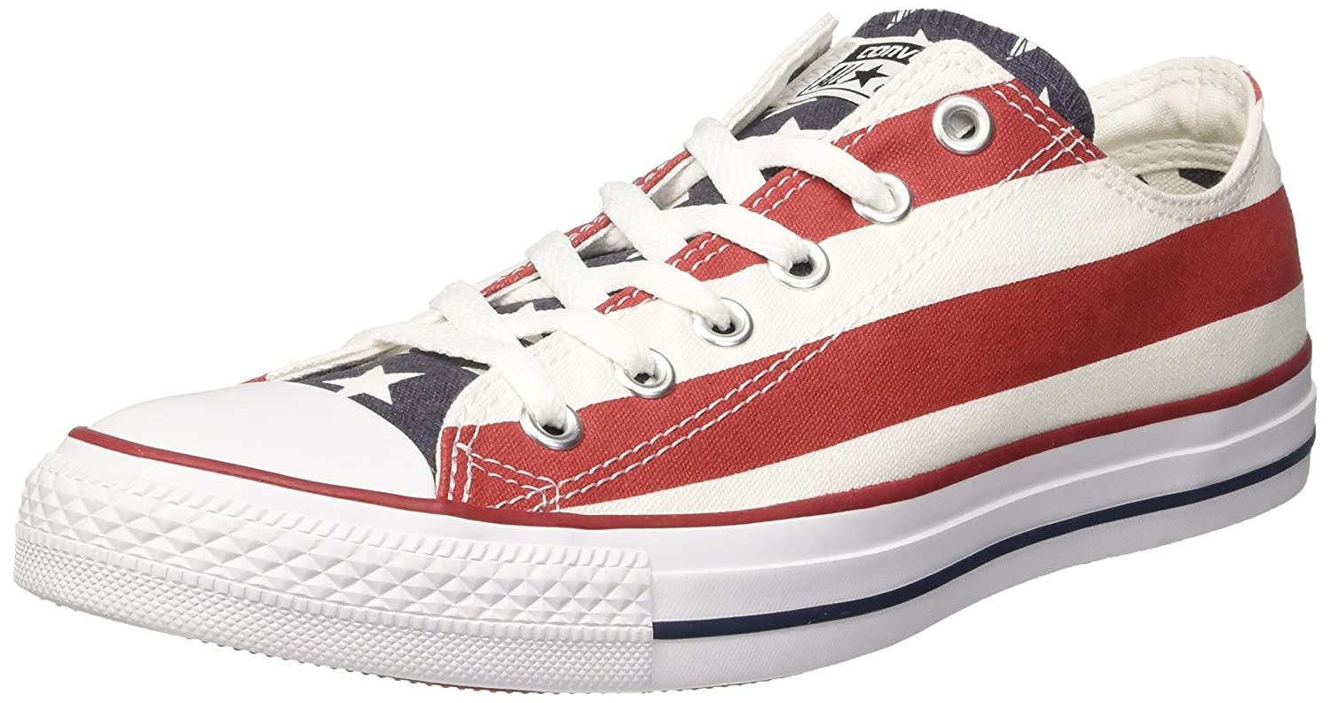 Converse Unisex Classic Chuck Taylor All Star Low Top Sneakers B004OWY9IO 11 D(M) US|Stars & Bars