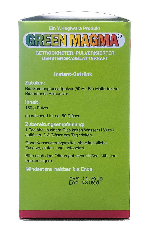 Green Magma Gerstengrasextrakt Pulver 150 g: Amazon.de: Drogerie ...