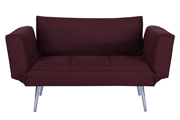 DHP Euro Sofa Futon Loveseat – For Small Space