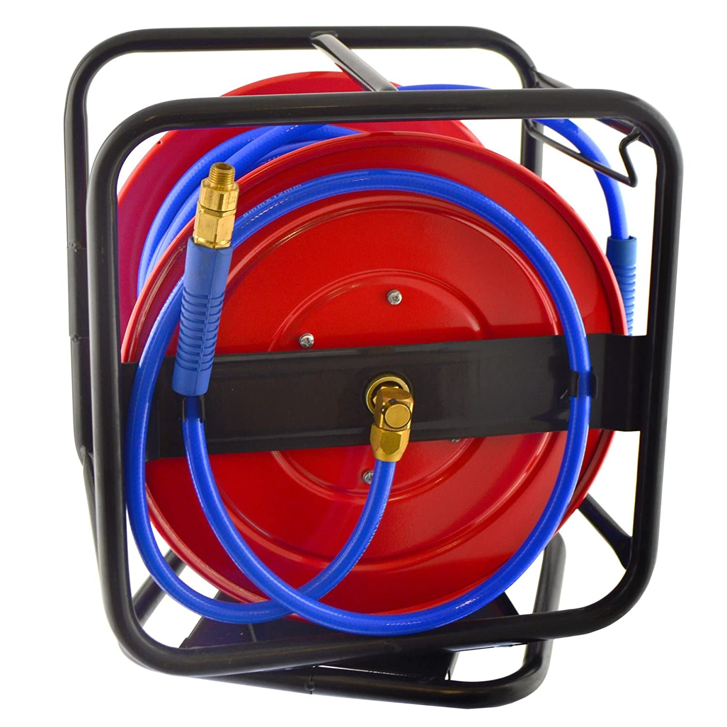 Retractable Air Hose Reel Compressor Air Line 8mm Bore 30 metres 100 feet long. AB Tools