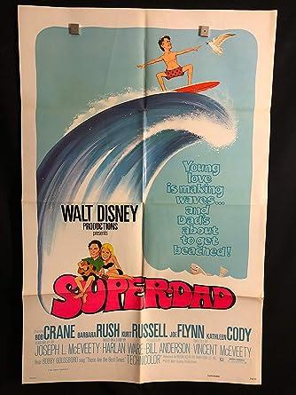 Superdad 1974 Original Vintage One Sheet Movie Poster Kurt Russell