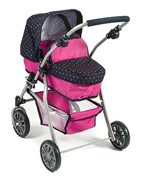 Amazon.es: Bayer Chic 2000 591 12 - Carrito para muñecas Speedy, diseño de Lunares, Color Rosa: Juguetes y juegos