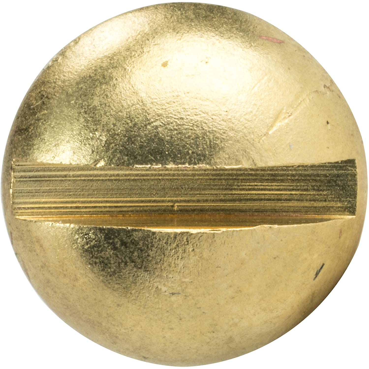 Solid Brass #14 x 3//4 Round Head Wood Screws Quantity 25 Partially Threaded Slotted Drive