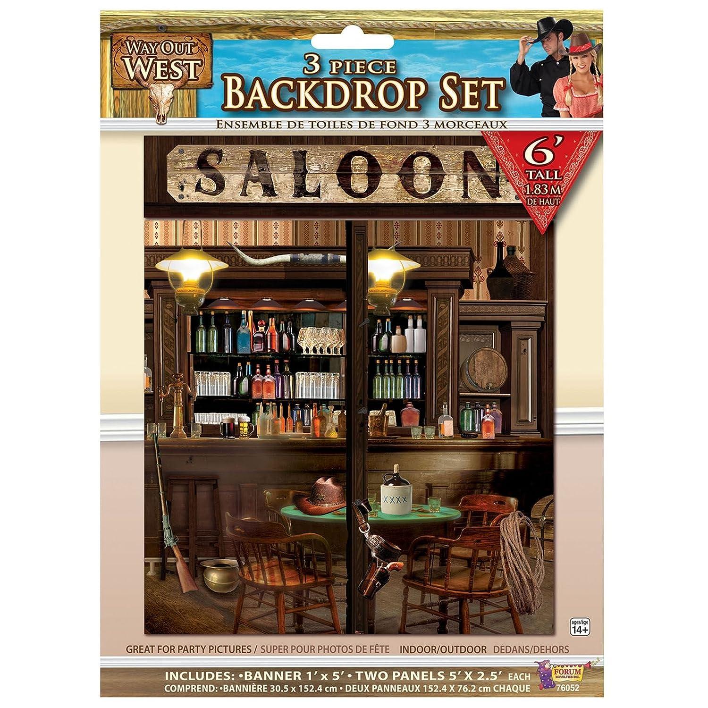 5ft cowboy scene setter saloon bar backdrop wild west western wall