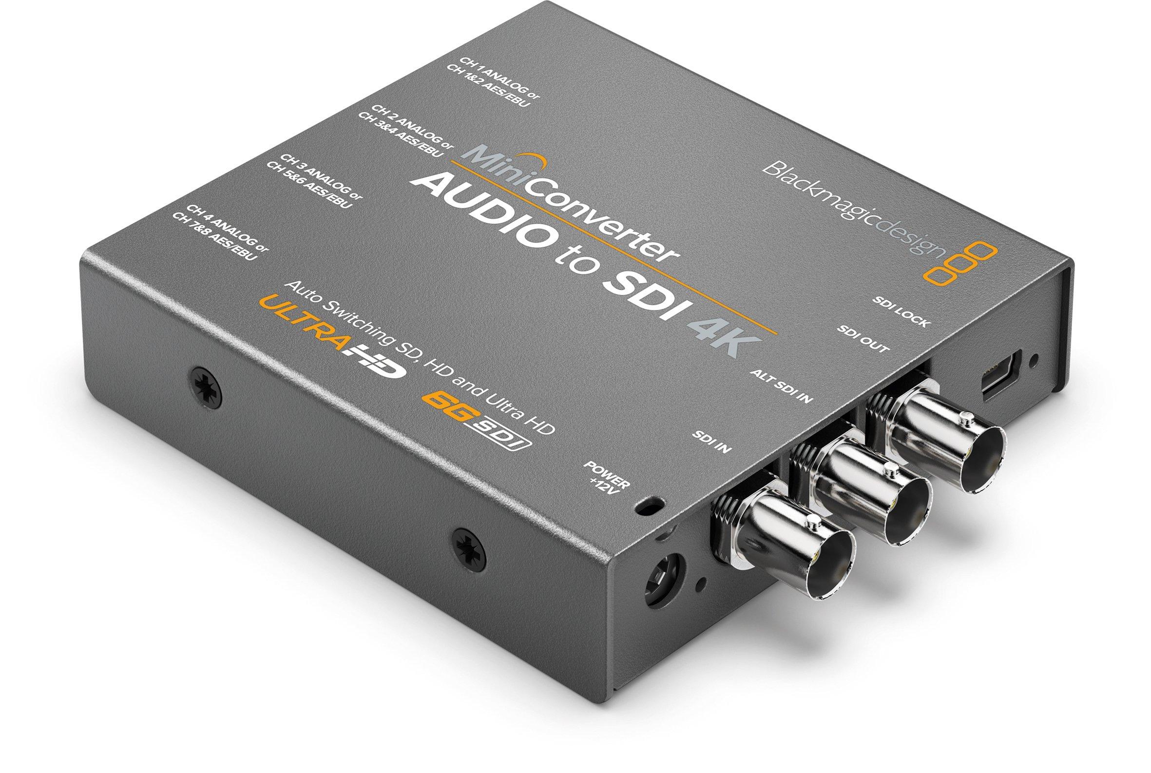 Blackmagic Design Mini Converter Audio to SDI 4K (BMD-CONVMCAUDS4K)