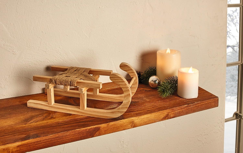 Deko-Schlitten aus Holz