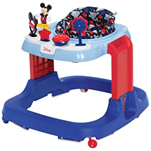 Disney Baby Ready, Set, Walk! DX Developmental Walker, Mickey Modern Play (WA096FBH)