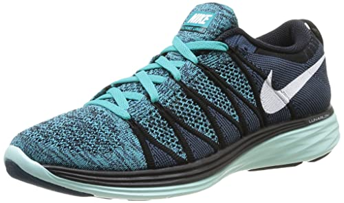 eb2451856a73d Nike Mens Flyknit Lunar2 - Multicolour (Black White Sprt Turq Chlrn Bl)