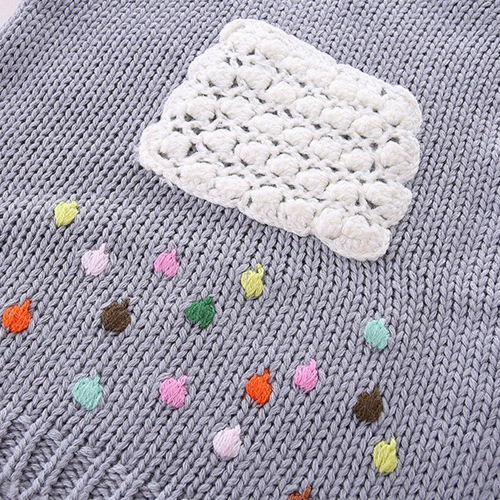 LittleSpring Little Girls' Sweater Long Sleeve Size 2T Grey by LittleSpring (Image #4)