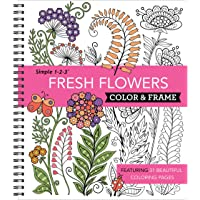 Color & Frame Coloring Book - Fresh Flowers