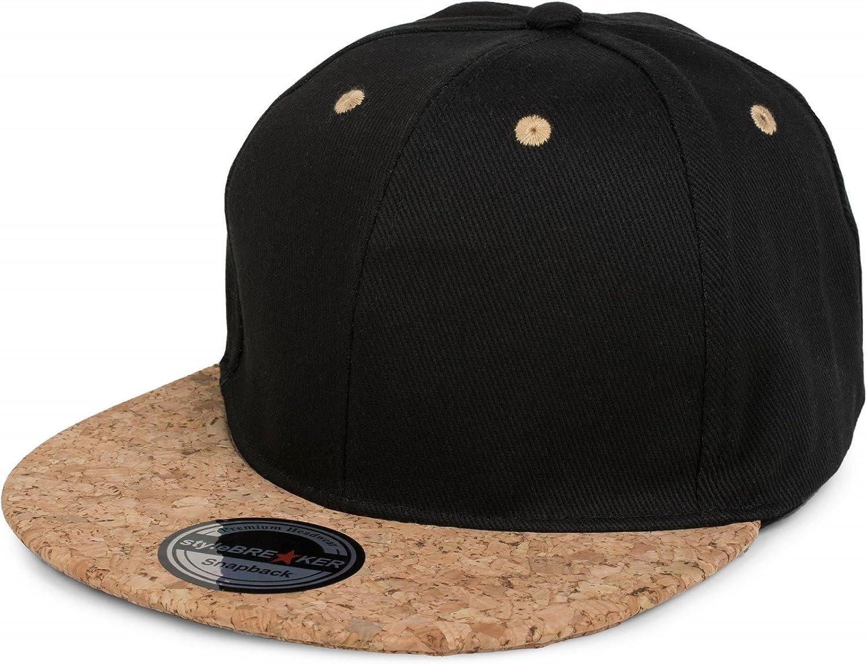 styleBREAKER Snapback Cap mit Kork Schild verstellbar Unisex 04023051 6-Panel Baseball Cap