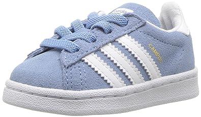reputable site f8169 81556 adidas Originals Baby Campus EL I, Ash BlueWhiteWhite, 4 Medium