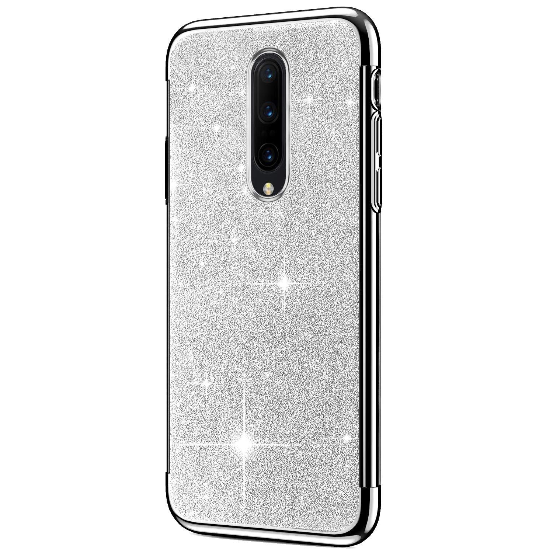 3 in 1 Ultra Slim Premium TPU Coque pour pour OnePlus 7 Pro-Or SainCat Coque pour OnePlus 7 Pro Coque Silicone avec Paillette Glitter Bumper Housse Anti Choc Etui de Protection