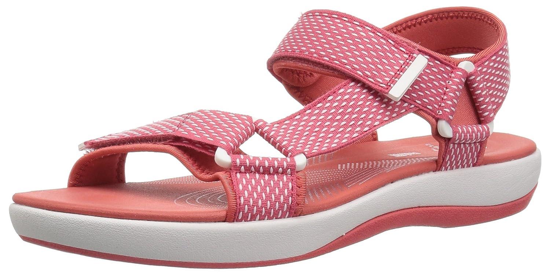 CLARKS Women's Brizo Cady Flat Sandal B07BGBNJF8 7.5 C/D US|Coral