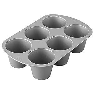 Wilton Giant Cupcake Pan, 6-Cup Jumbo Muffin and Cupcake Pan
