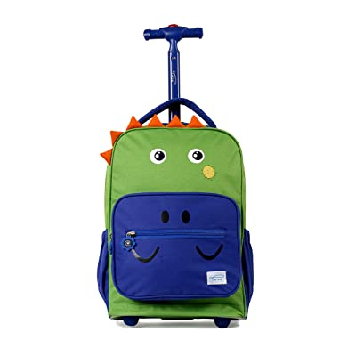 TWISE SIDE-KICK TRAVEL ROLLING BACKPACK FOR KIDS AND TODDLERS (DINO) | Kids' Backpacks