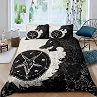Erosebridal Dragon Duvet Cover Constellation Bedding Set Queen Size for Kids Girls Boys Teens Adult Bohemian Exotic…