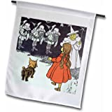 PS Vintage - Dorothy and Toto Wizard of Oz vintage - 12 x 18 inch Garden Flag (fl_162288_1)