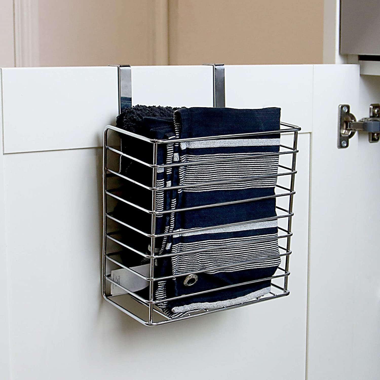 Maison & White Cesta de almacenamiento de cocina   Sobre gabinete y puerta de armario   Bandeja para hornear y soporte para tabla de cortar (Pequeño): ...