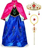 JerrisApparel Girls Princess Costume Cosplay Dress Up with Accessories