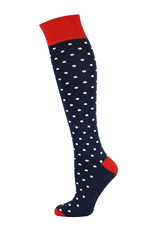 Vintage Men's Socks History-1900 to 1960s Mysocks Unisex Knee High Long Socks Polka Dot Design  AT vintagedancer.com