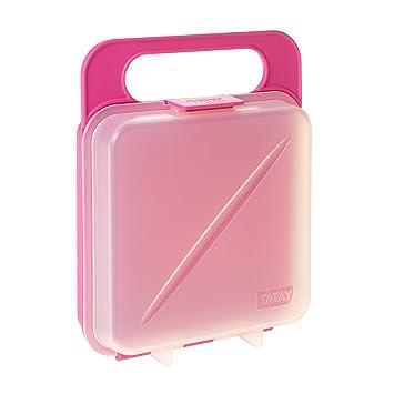 Tatay Porta Contenedor de Alimentos para Sandwich, Libre de BpA, Rosa, 18x14x4.5 cm: Amazon.es: Hogar