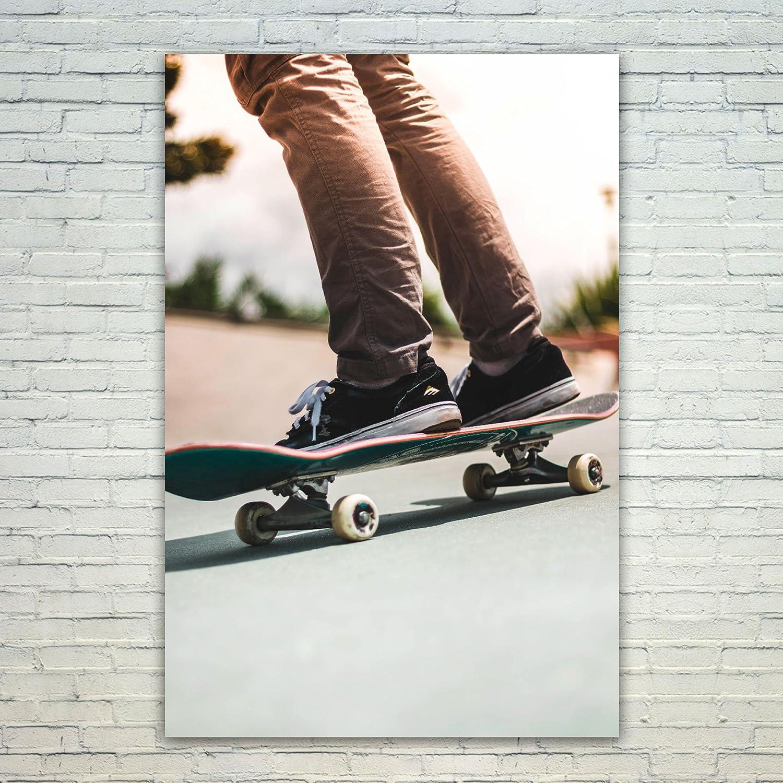 Westlake Art Skate Monopatín-12x18 impresión del Cartel de ...