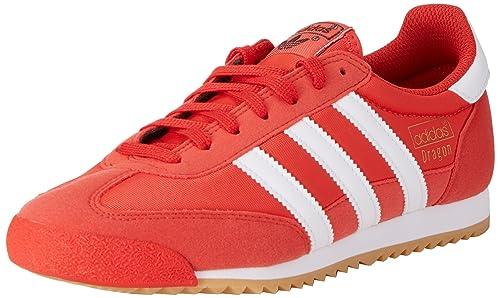 sports shoes 9673d 7d6a1 adidas Dragon Og, Zapatillas de deporte Hombre, Rojo (Red Ftwr White Gum  3), 43 1 3 EU  Amazon.es  Zapatos y complementos