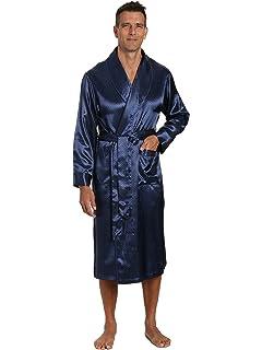 ab8c6695bc INTIMO Men s Classic Silk Robe at Amazon Men s Clothing store