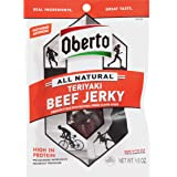 Oberto All Natural Teriyaki Beef Jerky, 1.5-Ounce Bag (Pack of 8)