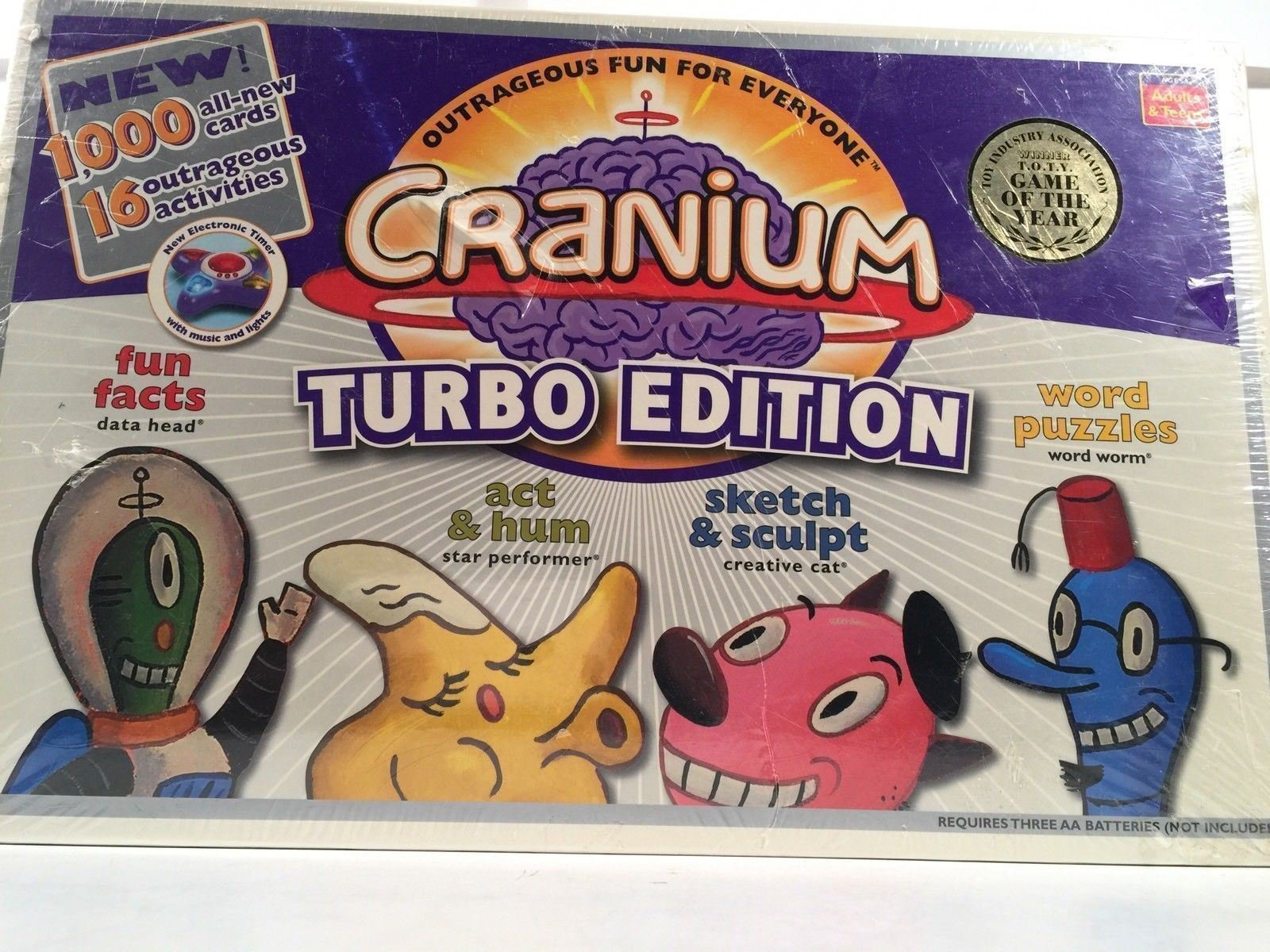 Baseman Cranium Turbo Edition 1000 NEW Cards 6 New Activities New In Box by Baseman (Image #2)