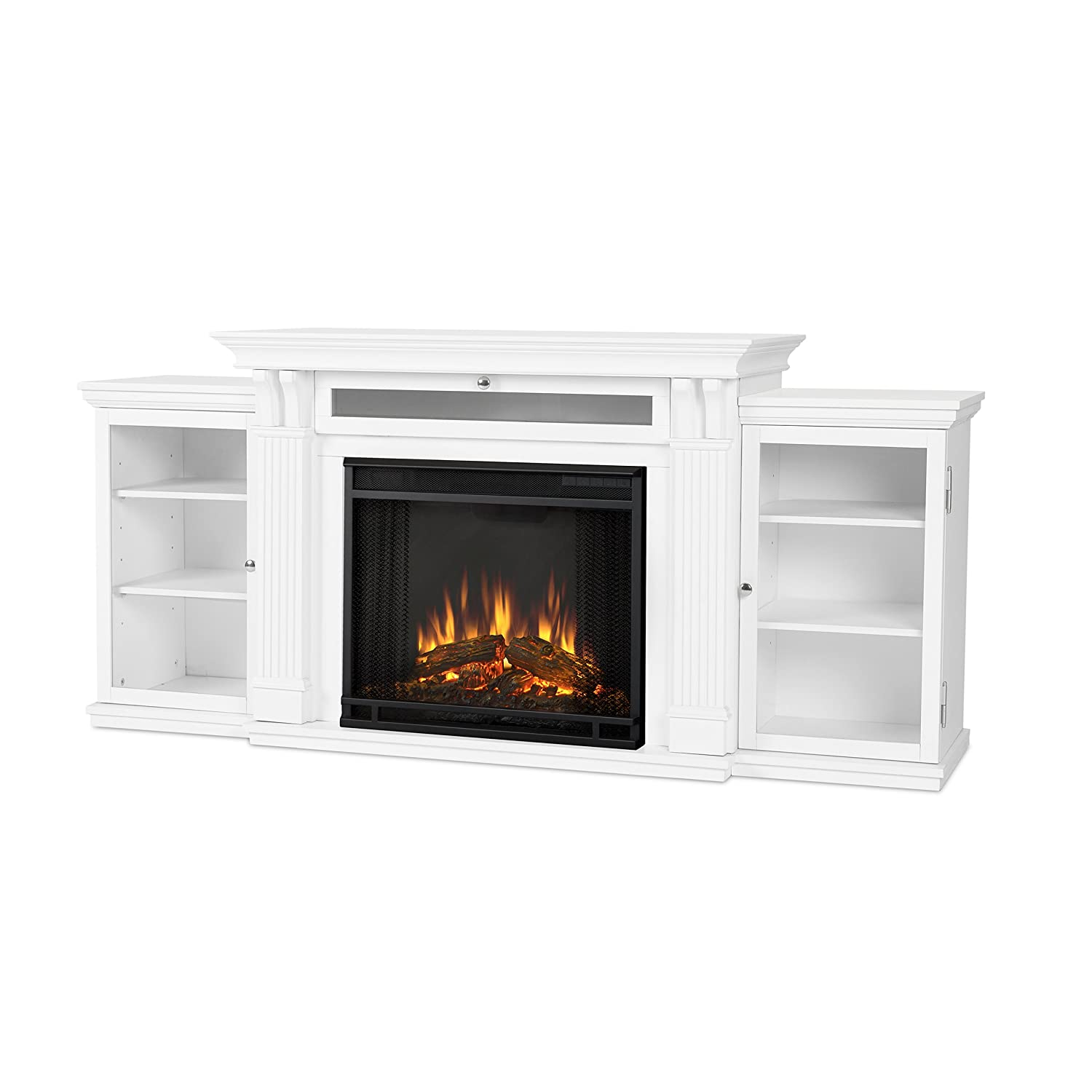 Real Flame 7720E-W Calie Entertainmet Unit With Electric Fireplace, Large, White