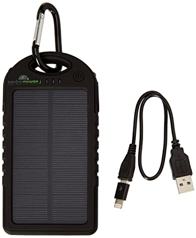 Amazon.com: Cargador solar 5000 mAh, Solar Power Bank con ...