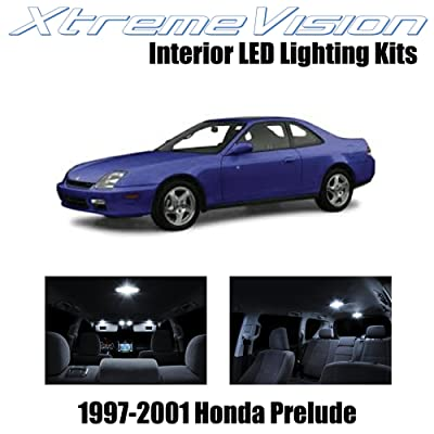 Xtremevision Interior LED for Honda Prelude 1997-2001 (5 Pieces) Pure White Interior LED Kit + Installation Tool: Automotive