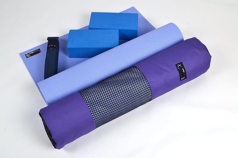 Esterilla de Yoga Kit de iniciaci/ón de Yoga 6/mm, Bolsa de Yoga, Yoga Ladrillos /& Yoga Correa