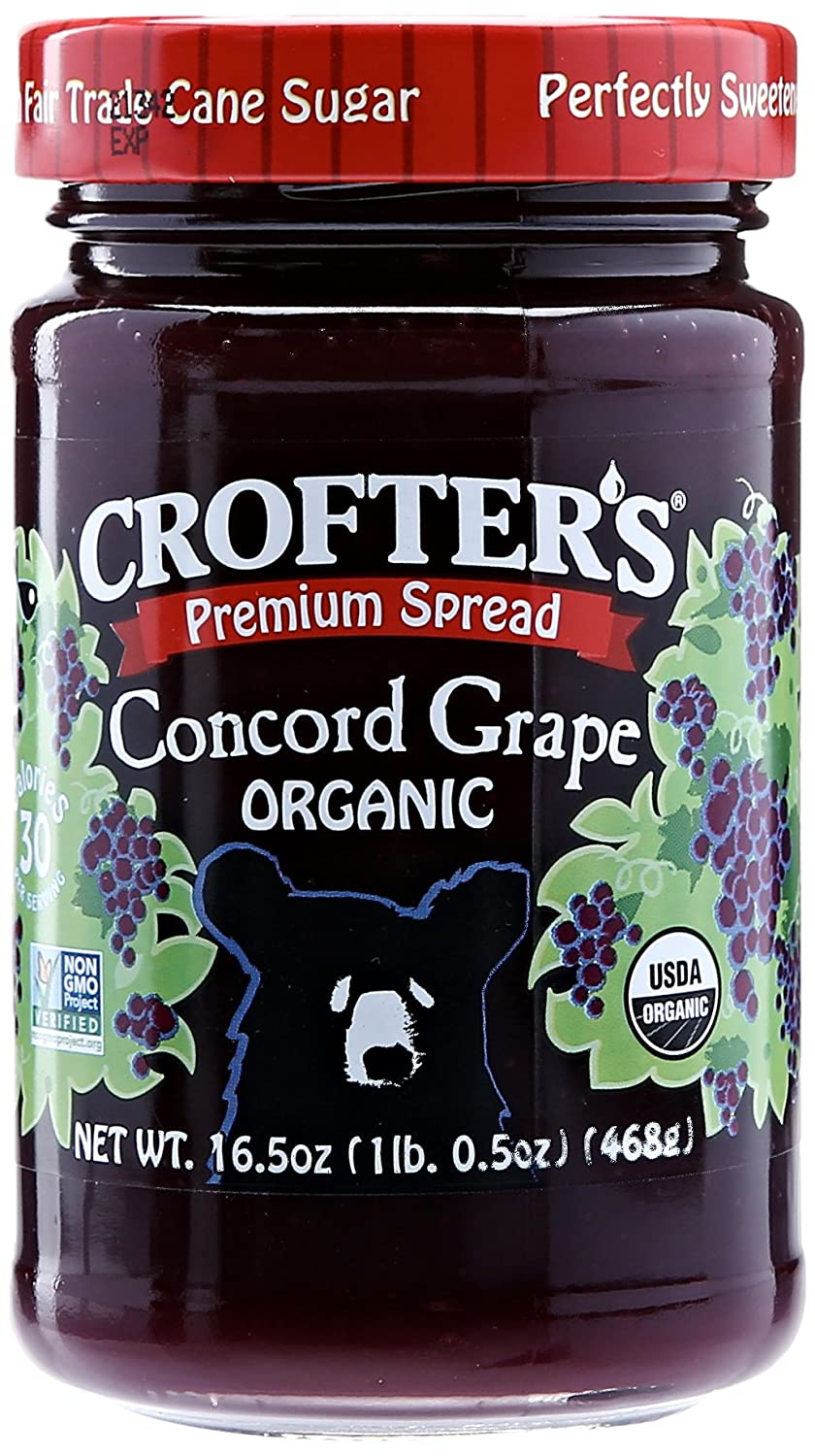 Crofters Organic Concord Grape Premium Spread, 16.5 oz