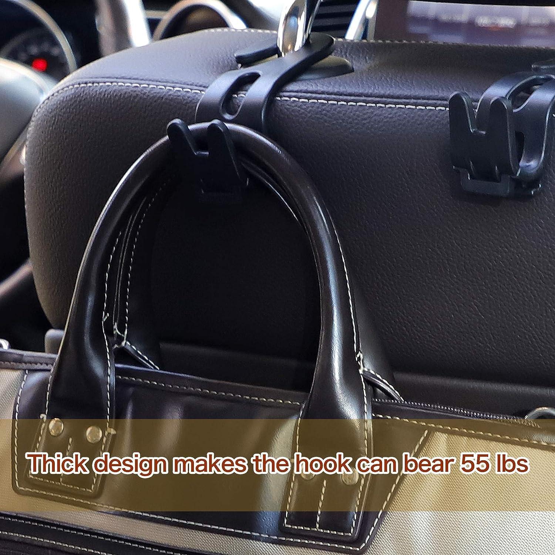 Multifunctional Thick Design Car Seat Headrest Hooks,Purse Hook for Car Handbags Wallet Kettle Umbrella Coats Grocery Bags Trash Bags /& More 2021 Newest WORDKA-5 PCS Car Rear Seat Headrest Hook