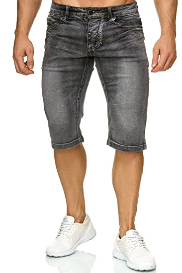 5bee236b6f5d Herren Bermuda Shorts Slim Stretch Kurze Jeans Hose H2272  Amazon.de   Bekleidung