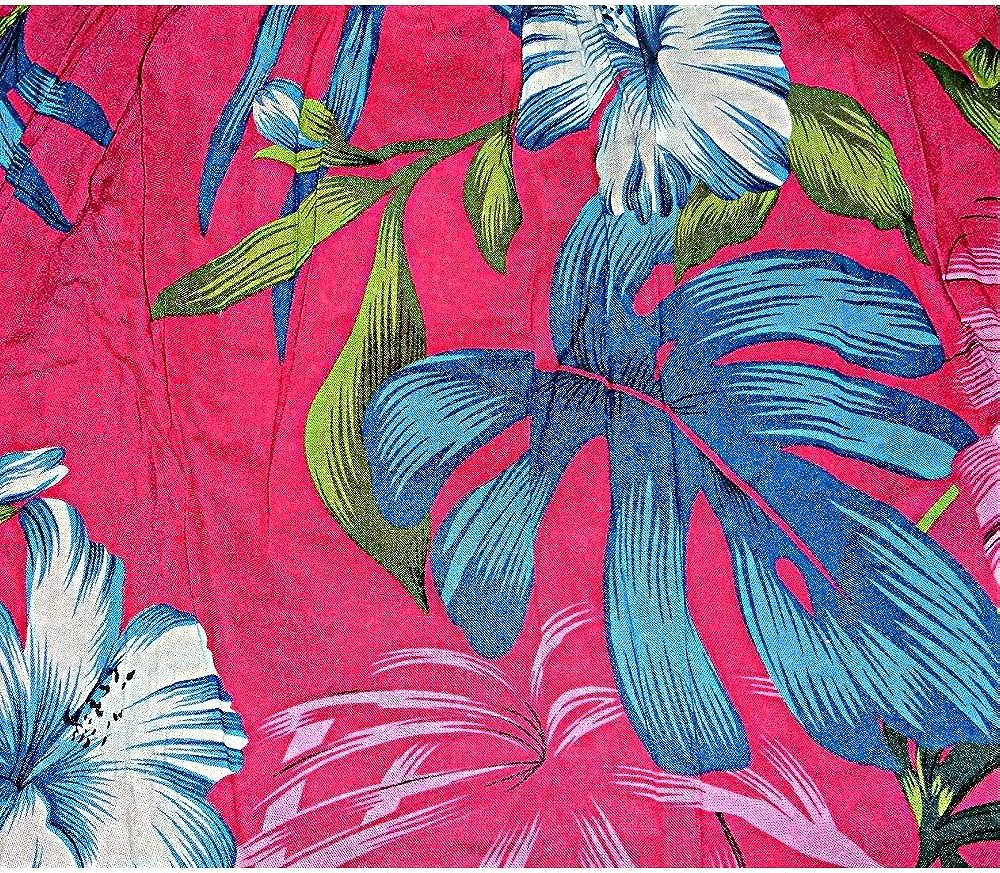 Childrens Short Sarong Hawaiian Pink Tropical Floral Hibiscus Flowers Girls
