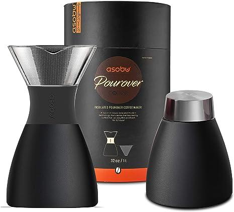Asobu Black Insulated Pour Over Coffee Maker