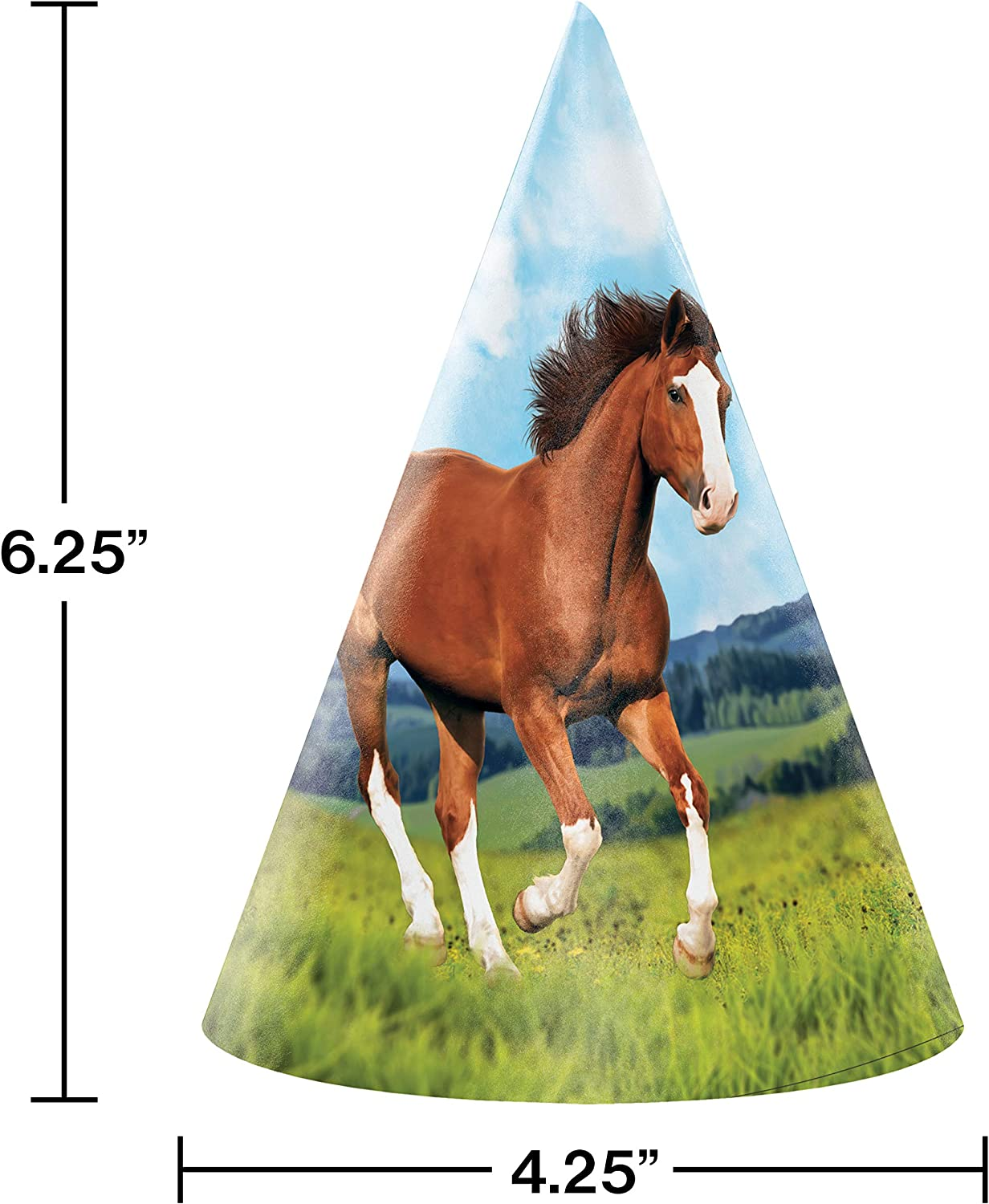 Amazon.com: Wild Horse Party Hats, 24 ct: Toys & Games