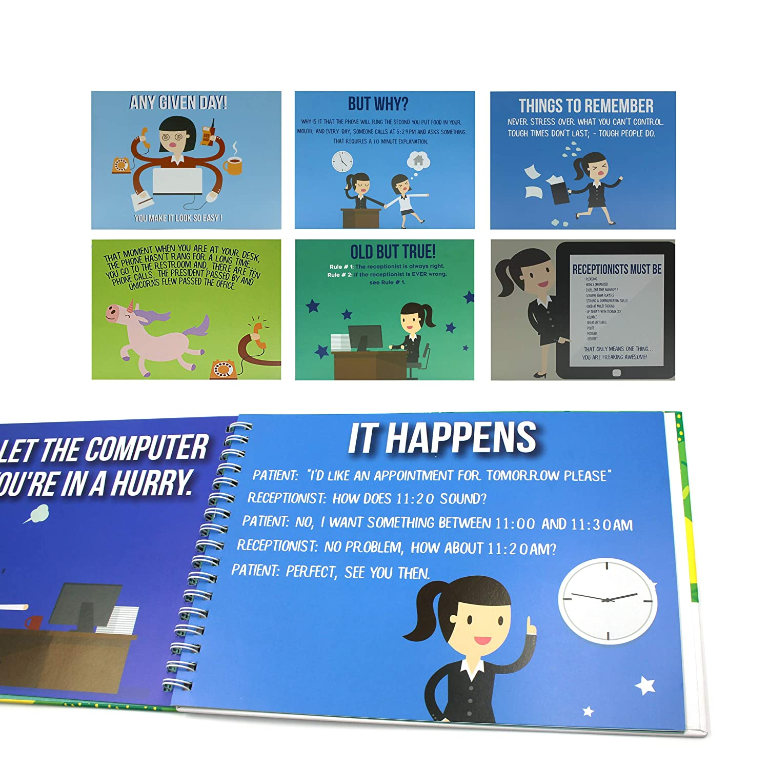 Amazon Receptionist Gifts Personalizable Humor Booklet With